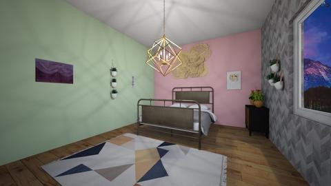gold and metal bedroom  - Modern - Bedroom - by aschaper