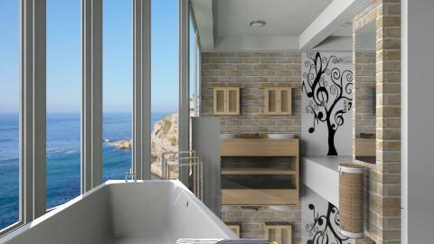 contemporustic - Rustic - Bathroom  - by Nhezi