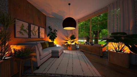 Plants and wood - Living room  - by rosanebpf