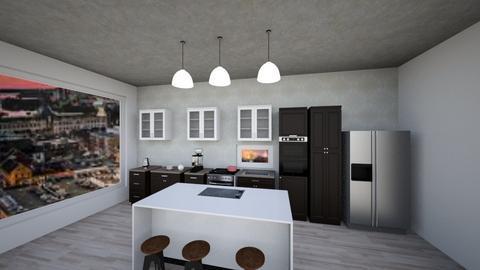 Modern Kitchen In City - Modern - Kitchen  - by ashishereforfun
