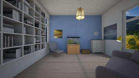 Library - Classic - Living room - by Twerka