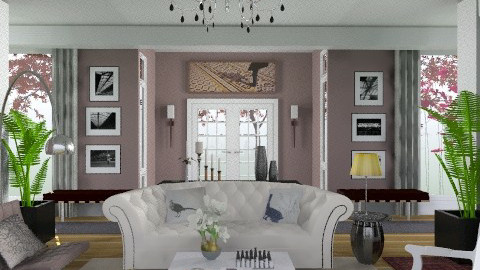 purple - Eclectic - Living room  - by M_Lane