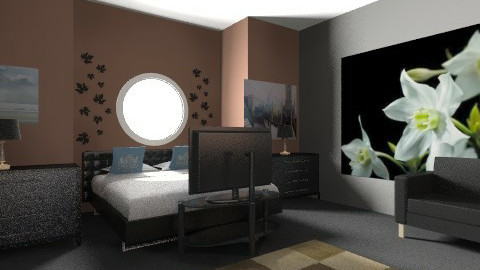 finished bedroom rustic - Rustic - Bedroom  - by situation88