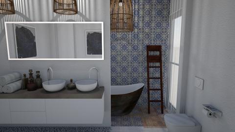 Blue Bathroom II - Rustic - Bathroom  - by Daria Marienko