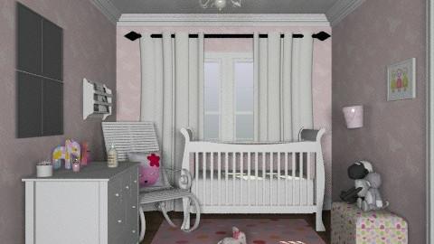 Little pink nursery - Feminine - Kids room  - by alleypea