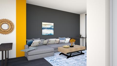 livingroom greysectional5 - Living room  - by lilsrox05