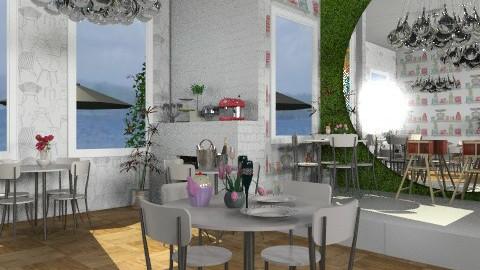 Beach Cafe - Classic - Bathroom  - by lilme_2k