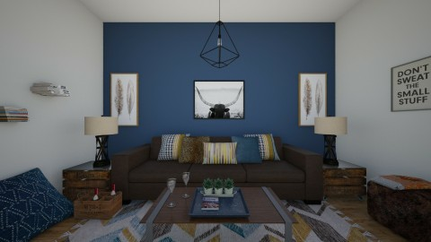 Boho - Rustic - Living room  - by Malwalker02