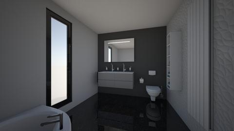 CLAU baie proiect 2 - Bathroom  - by Claudia Ilisan