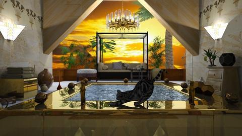 Egyptian pool - Living room - by ZsuzsannaCs
