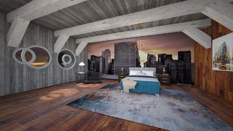 City Bedroom - Rustic - Bedroom  - by Alilin