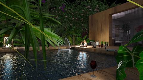 Tropical Patio - Garden  - by RHD