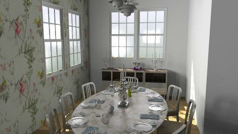 Annabelle's dining - window view - Classic - Dining room - by newyorkstyle