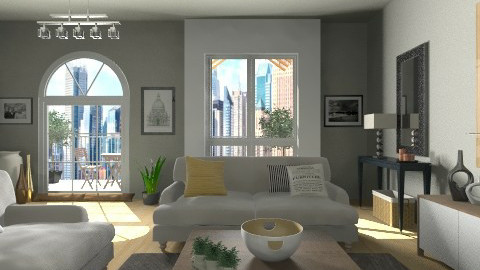 city comfort  - Modern - Living room  - by vesperart