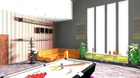 Entertainment room - Retro - Living room - by luqdragon
