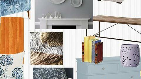 blue living room - by NovelHomeDesign