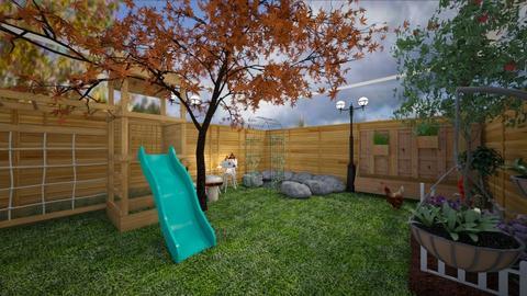 dream backyard - Garden  - by leilaaaa_jean