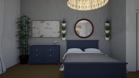 Blue bedroom 2 - Modern - Bedroom  - by Annabel C