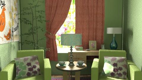 Sitting Garden - Vintage - Living room  - by ocbruner