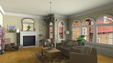 England country house - Country - Living room  - by GALE88