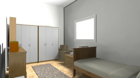 Quarto Solteiro - Minimal - Bedroom - by PriscilaVitalino