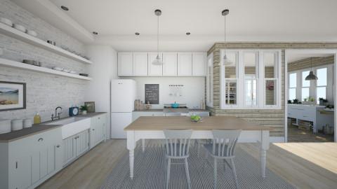 Nantucket Summer Kitchen - Kitchen  - by LizyD