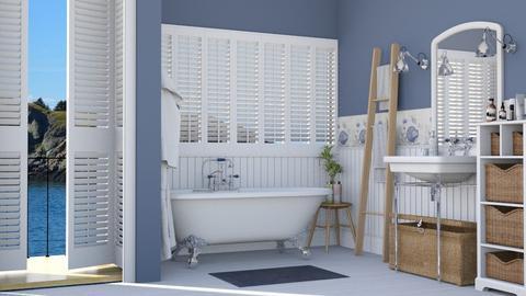 Nautical bath - Bathroom  - by Lizzy0715