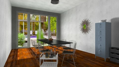 Industrial Chic - Dining room - by DoraL
