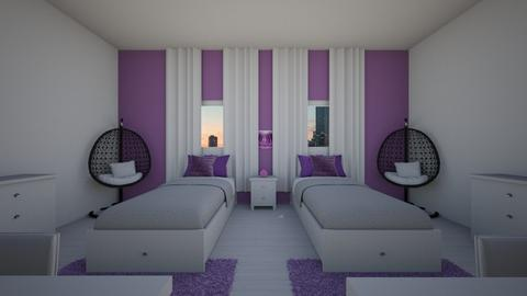Purple Kids Room - Glamour - Kids room  - by jordynclark