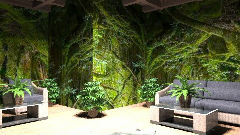 Jungle living - Rustic - Living room  - by deepthinker