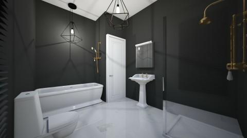 banheiro masculino  - Country - Bathroom  - by kelly lucena