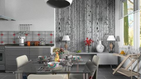 Grey Gloss_Dining - Modern - Kitchen  - by janip