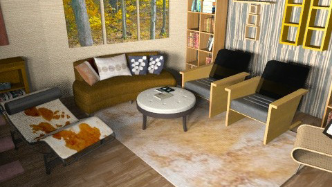 Autumn - Country - Living room  - by mogly