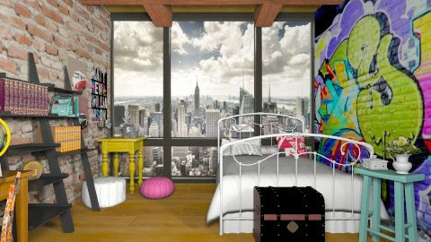 grafite - Vintage - Bedroom  - by Maria_Julia