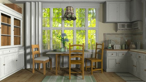 Cottage Kitchen - Kitchen  - by Violetta V