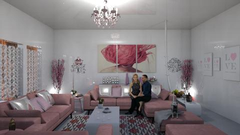 pink Love - Glamour - Living room  - by soralobo