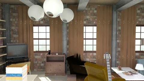 Gossip Girl Humphrey Loft - Rustic - Living room  - by Lenii