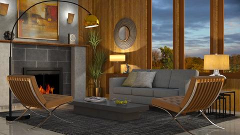 Mid Century Modern Living - Living room  - by GraceKathryn