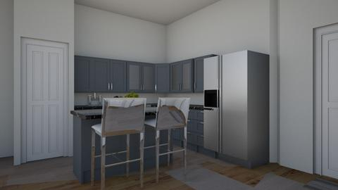 Modern Apartment kitchen - Modern - Kitchen  - by AbigailTrice34