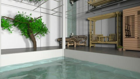 indoor pool and sauna  - Minimal - Office  - by mimiB