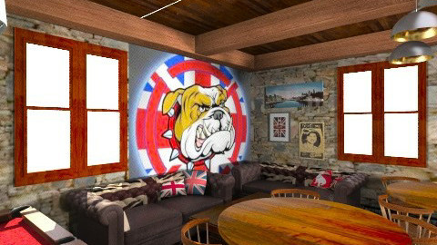 British Bulldog Pub - Rustic - by Sharon Barnes