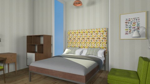 Retro Bedroom - Retro - Bedroom  - by JazzyAllen
