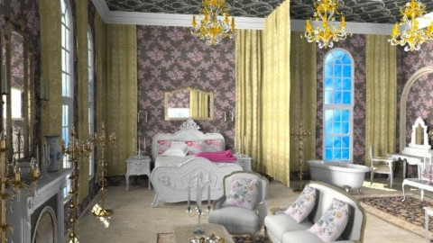 Anastasia's Bedroom - Classic - Bedroom  - by Bibiche
