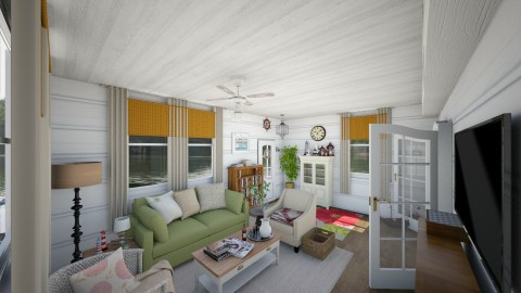Summer Cottage - Country - Living room  - by vee_la_ree