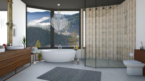 Black Ceiling Bath - Modern - Bathroom  - by DeborahArmelin