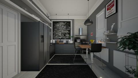 black kitchen - Modern - Kitchen - by Evangeline_The_Unicorn