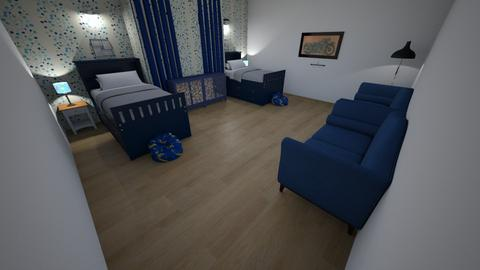The Kids Blue Room - Modern - Kids room  - by Its hamzah