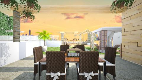 villa lounge - Modern - Garden  - by christoforos