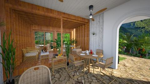 Tropical patio restaurant - Garden  - by Niva T