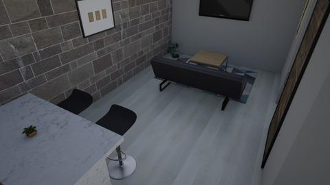Apartment with stone wall - Modern - by CHRSLBW